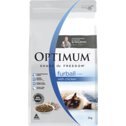 Photo of Optimum Furball With Chicken 1+ Years Dry Cat Food 2kg