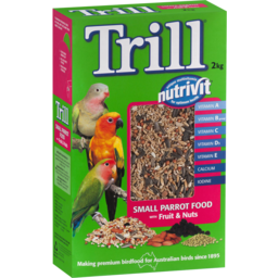 Photo of Trill Small Parrot Food With Fruit & Nuts 2kg