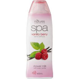 Photo of Natures Organics Spa Vanilla Berry Shower Milk With Shea Butter 400ml