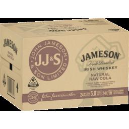 Photo of Jameson Irish Whiskey & Raw Cola 333ml 24 Pack