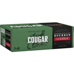 Photo of Cougar Bourbon & Cola 375ml 24 Pack