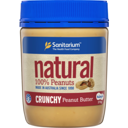 Photo of Sanitarium Natural Crunchy Peanut Butter Spread 375g