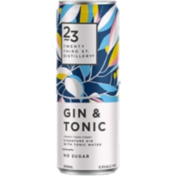 Photo of 23rd Street Gin & Tonic 300ml