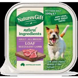 Photo of Natures Gift Gourmet Succulent Lamb Wet Dog Food 100g