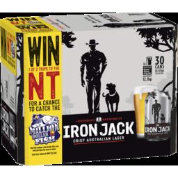 Photo of Iron Jack Crisp Australian Lager 30 X 375ml Can Carton