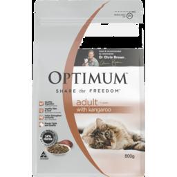 Photo of Optimum Dry Cat Food Adult 1+ Years With Kangaroo 800gm