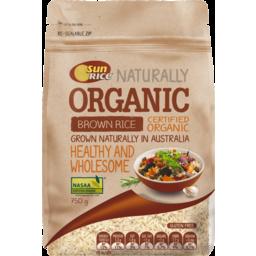 Photo of Sunrice Organic Brown Rice (750g)