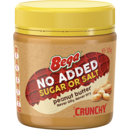 Photo of Bega No Added Sugar Or Salt Peanut Butter Crunchy 325gm