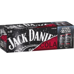 Photo of Jack Daniel's Jack Daniels Cola 10 Pack With 2 Bonus Cans