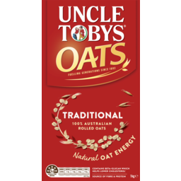 Photo of Uncle Tobys Oats Traditional 1kg