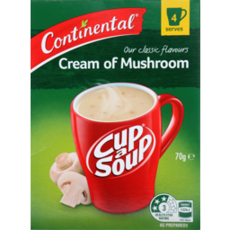 Photo of Continental Cup A Soup Cream Of Mushroom 4 Serves 70g