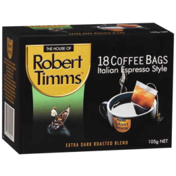Photo of Robert Timms 18 Coffee Bags Italian Espresso Style