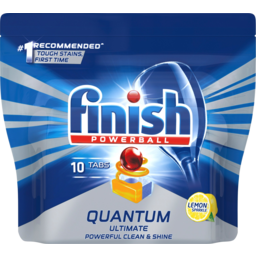 Photo of Finish Powerball Quantum Ultimate Lemon Sparkle Dishwasher Tablets 10 Pack