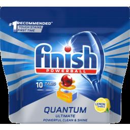 Photo of Finish Powerball Quantum Ultimate Lemon Sparkle Dishwasher Tablets 10 Pack