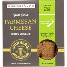Photo of Rutherford & Meyer Spent Grain Crackers Parmesan Cheese 175g