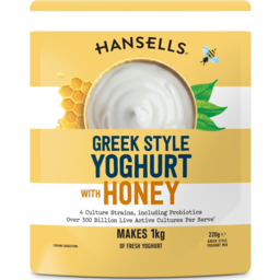 Photo of Hansells Greek Style With Honey Yoghurt Mix 220g