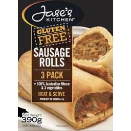 Photo of Jases Kitchen Gluten Free Sausage Rolls 390gm