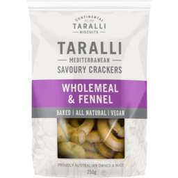 Photo of Taralli Wholemeal & Fennel Savoury Crackers 250g