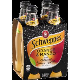 Photo of Schweppes Mineral Water Orange/Mango 4x300ml