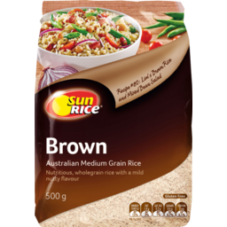 Photo of Sunrice Brown Calrose Medium Grain Rice 500g