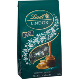 Photo of Lindt Lindor Sea Salt Caramel Bag 130g