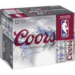 Photo of Coors Nba 355ml 12pack Cans