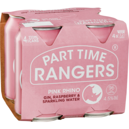 Photo of Part Time Rangers Gin Raspberry & Lime Sparkling Water Cans - 4 X 330ml