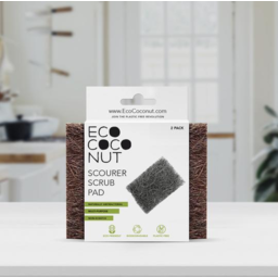 Photo of EcoCoconut Twin Pack Scourer Scrub Pad
