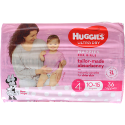 Photo of Huggies Ultra Dry Nappies Toddler Girl 36pk