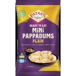 Photo of Patak's Mini Pappadums Plain 75g
