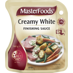 Photo of Masterfoods Creamy White Finishing Sauce Pouch 160g