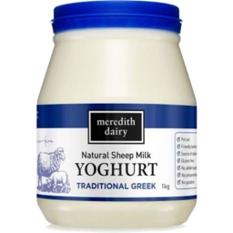Photo of Meredith Yoghurt - Natural (Blue Lid) - Traditional Greek