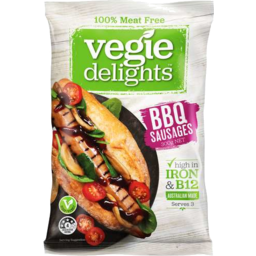 Photo of Vegie Delights 100% Meat Free BBQ Sausages 300gm