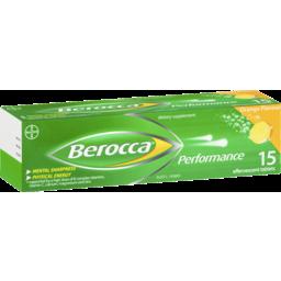 Photo of Berocca Energy Vitamin Orange Effervescent Tablets 15 Pack