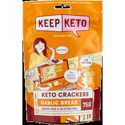 Photo of Keep Keto Crackers Garlic Bread 75g