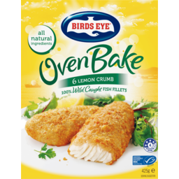 Photo of Birds Oven Bake Lemon Crumb Fish Fillets 425gm