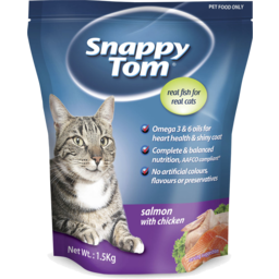 Photo of Snappy Tom Dry Cat Food Salmon With Chicken 1.5kg