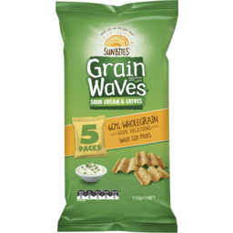 Photo of Sunbites Grain Waves Sour Cream & Chives 5 Pack