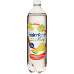 Photo of Waterfords Lite & Fruity Sparkling Natural Mineral Water Lemon Lime Bitters 1lt