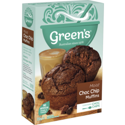 Photo of Green's Traditional Rich Choc Chip Low Fat Muffin Mix 330g