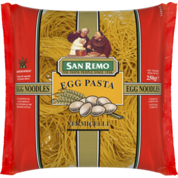 Photo of San Remo Egg Pasta Noodles Vermicelli 250g