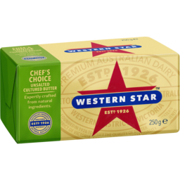 Photo of Western Star Butter Continental Unsalted 250g