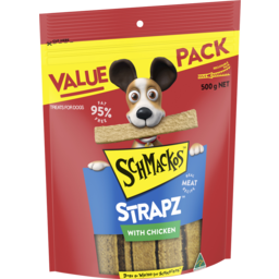 Photo of Schmackos Chkn Straps 500gm