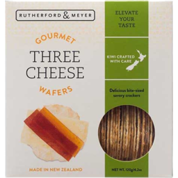 Photo of Rutherford & Meyer Gourmet Wafer 3 Cheese 120g