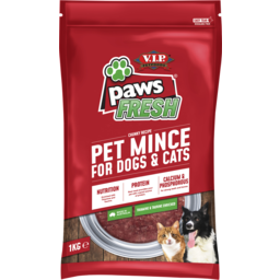 Photo of V.I.P. Petfoods Paws Fresh Minced Chilled Dog And Cat Food 1kg