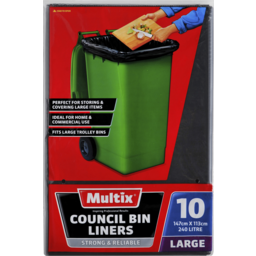 Photo of Multix Council Bin Liners Large 10 Pack
