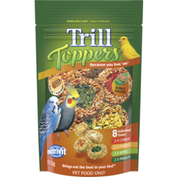 Photo of Trill Toppers Dry Bird Seed Mix Flavours 112g Pouch