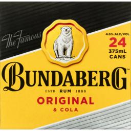 Photo of Bundaberg Up Rum & Cola Cube Cans