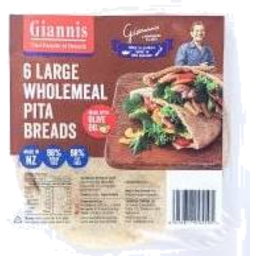 Photo of Giannis Pita Bread Wholemeal 6 Pack