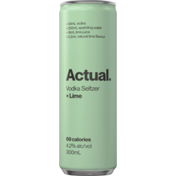 Photo of Actual Vodka Seltzer & Lime Can